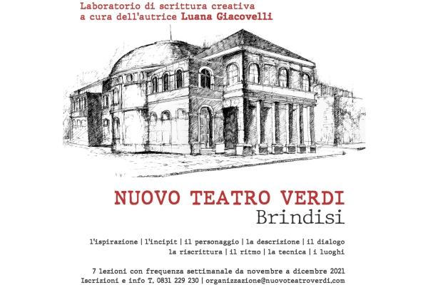 La Fondazione Nuovo Teatro Verdi di Brindisi organizza un laboratorio di scrittura creativa
